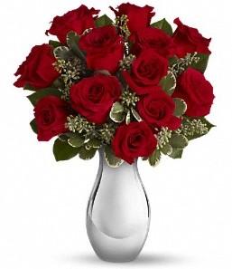 Kars İnternetten çiçek siparişi   vazo içerisinde 11 adet kırmızı gül tanzimi
