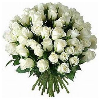 Kars çiçekçi mağazası  33 adet beyaz gül buketi