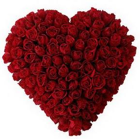 Kars kaliteli taze ve ucuz çiçekler  muhteşem kırmızı güllerden kalp çiçeği