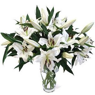Kars anneler günü çiçek yolla  3 dal görsel casablanca vazo tanzimi
