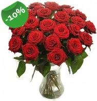 Vazo içerisinde 25 adet kırmızı gül  Kars çiçek yolla