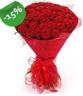 51 adet kırmızı gül buketi özel hissedenlere  Kars güvenli kaliteli hızlı çiçek