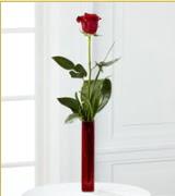 Vazo içerisinde 1 adet kırmızı gül  Kars çiçek yolla , çiçek gönder , çiçekçi