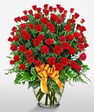 Görsel vazo içerisinde 101 adet gül  Kars çiçek yolla