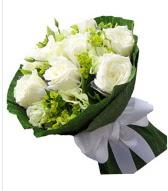 9 adet beyaz gül buketi  Kars güvenli kaliteli hızlı çiçek