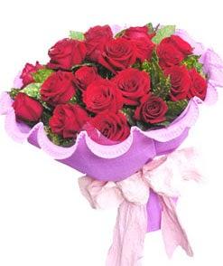12 adet kırmızı gülden görsel buket  Kars kaliteli taze ve ucuz çiçekler