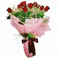 Kars güvenli kaliteli hızlı çiçek  12 adet kirmizi kalite gül