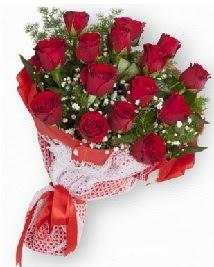 11 kırmızı gülden buket  Kars çiçekçiler