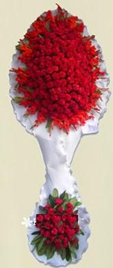 Çift katlı kıpkırmızı düğün açılış çiçeği  Kars çiçek , çiçekçi , çiçekçilik