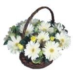 Kars güvenli kaliteli hızlı çiçek  Sepet içinde  gerbera aranjmani
