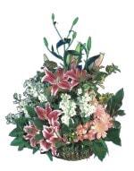 Kars çiçek gönderme sitemiz güvenlidir  Pembe gerbera ve lilyum sepeti