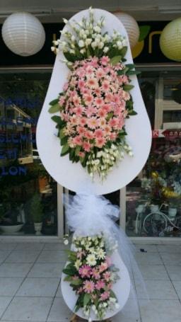 Çift katlı özel şahane sepet çiçeği  Kars anneler günü çiçek yolla