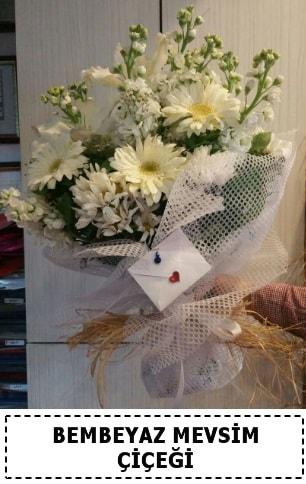Bembeyaz görsel mevsim çiçek buketi  Kars uluslararası çiçek gönderme