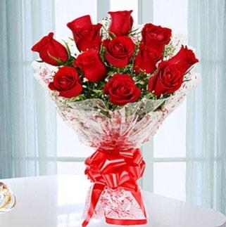 11 adet kırmızı gülden görsel şık buket  Kars çiçek servisi , çiçekçi adresleri