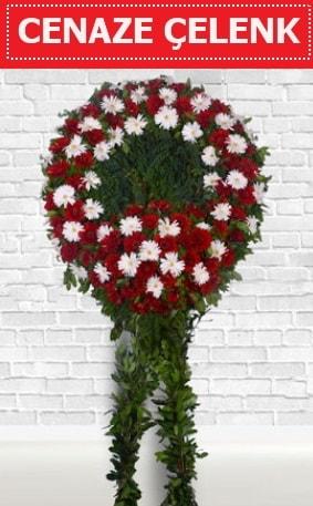 Kırmızı Beyaz Çelenk Cenaze çiçeği  Kars cicek , cicekci