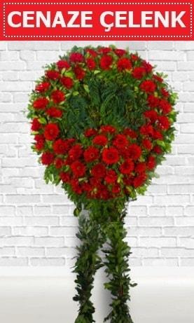 Kırmızı Çelenk Cenaze çiçeği  Kars cicek , cicekci