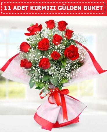 11 Adet Kırmızı Gül Buketi  Kars çiçek yolla , çiçek gönder , çiçekçi