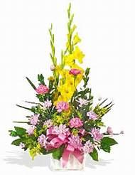 Kars çiçekçi mağazası  sepet içinde Glayor karanfil özel tanzim